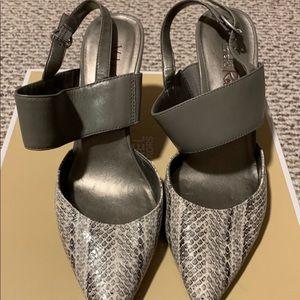 Gray Slingback Heels!